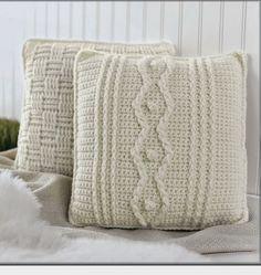 Aran Pillows to Crochet ~ Book Review ~ Crochet Addict UK ~ Check out the #Aran #Pillows to #Crochet ~ #Book #Review http://www.crochetaddictuk.com/2014/02/aran-pillows-to-crochet-book-review.html