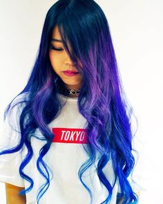 WEBSTA @ soleige - #グラデーションカラー#バイオレット#ブルー#外国人風カラー #ソレイジュ#soleige#派手髪…