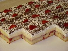 Yummy Treats, Delicious Desserts, Sweet Treats, Dessert Recipes, Cake Recipes, Czech Recipes, Ethnic Recipes, Peach Salsa, Party Food And Drinks