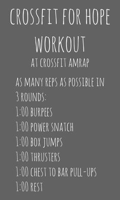 Crossfit for Hope WOD