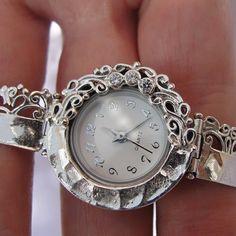 NEW Israel Original Handmade Fine Silver CZ Bracelet by jewela, $144.00