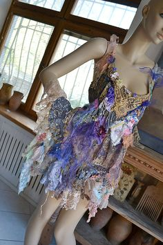 Unique Art To Wear Romantic Cotton Tunic Old by Paulina722 on Etsy