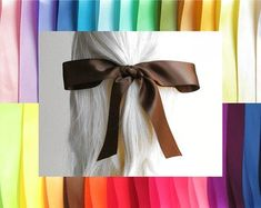 Etsy :: Your place to buy and sell all things handmade Hair Ribbons, Hair Bows, Girl Hairstyles, Wedding Hairstyles, Women Jewelry, Unique Jewelry, Grosgrain, Hair Accessories, Long Hair Styles