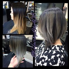 hair grey ombre - Google Search