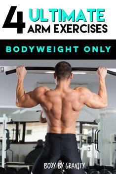 4 Crazy Bodyweight Moves to Build Muscular Arms Bodyweight Strength Training, Body Weight Training, Muscle Training, Muscle Fitness, Fitness Tips, Build Arm Muscle, Workout Plan For Men, Workout Plans, Training