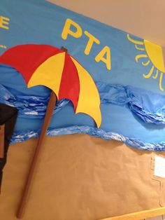 beach bulletin board ideas | This was the most difficult part of the board, getting the angle of ...