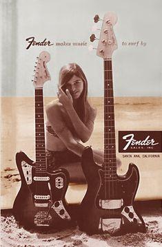 1960s era Fender Guitar ad