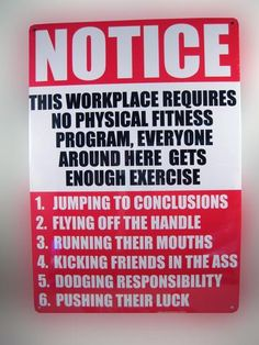 This Workplace Requires Notice Tin Sign