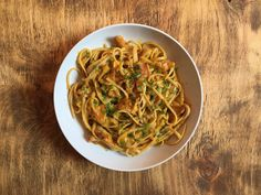 Inglourious Bananas: Pumpkin Linguine with Chanterelle Mushrooms // Linguine alla zucca con finferli