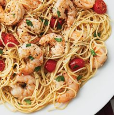 Use peeled and deveined shrimp in Lemon Pepper Shrimp Scampi to get this dish on the table even faster. And it's perfectly fine to use low-sodium chicken broth in place of the wine.