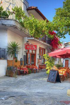 Village Square, Skiathos, Greece