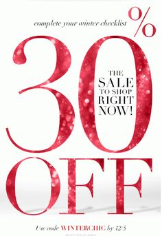 Take 30% off sitewide!  Use code:  WINTERCHIC http://rstyle.me/n/qxtnyg6