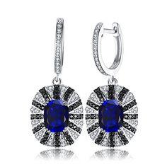Parure de bijoux en Zircone cubique et argent sterling pour la Saint-Valentin Collier style ange et boucles doreilles en forme de fleur