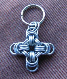 Stainless Steel Moline Cross Key Fob. $10.00, via Etsy.