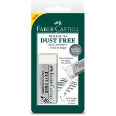 Borracha branca Dust Free SM187129 Faber Castell - Escolar - Kalunga.com