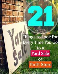 21 items to look for in at a yard sale!