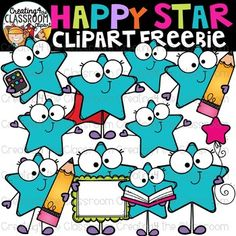 clip art freebies Happy Stars Clipart Freebie {Stars Clipart} Thank you for your ongoing support and amazing words of encouragement! You truly inspire all of my creations and continue Student Clipart, Free Clipart For Teachers, Math Clipart, Teachers Pay Teachers Freebies, Classroom Clipart, Classroom Decor, Teacher Freebies, Online Classroom, Classroom Design