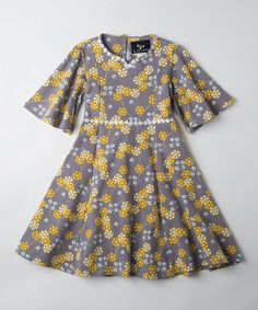 Look at this Yellow Pinwheel Veronica Marguerite Dress - Toddler & Girls on #zulily today!