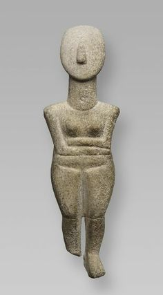Female Figure of the Spedos Variety, 2600-2500 BC Sculpture , Statuette Cycladic , 3rd millennium BC Bronze Age, Early, c. 3000-2000 BC Creation Place: Cyclades Marble