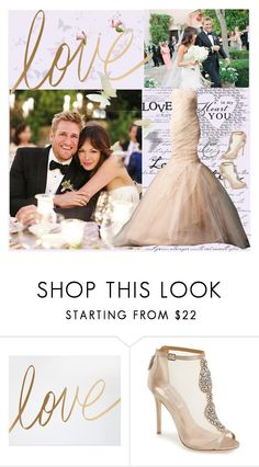 """""""Delicious Love : Celebrity Chef Curtis Stone and Lovely Actress Lindsay Price"""" by bklou ❤ liked on Polyvore featuring Badgley Mischka, women's clothing, women, female, woman, misses and juniors"""