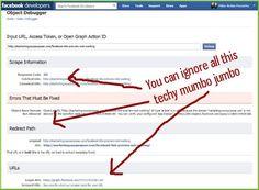 ignore the techy stuff in facebook debugger