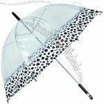 Clear PVC Auto Open Straight Umbrella