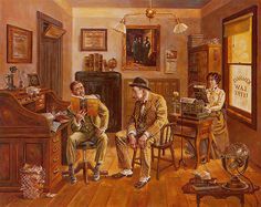 Shop for ''Assault and Battery'' by Lee Dubin Americana Art Print x 34 in. Get free delivery On EVERYTHING* Overstock - Your Online Art Gallery Store! Pictures To Paint, Art Pictures, Vintage Posters, Vintage Art, Decoupage, Lawyer Office, Nostalgic Art, Norman Rockwell, Office Art