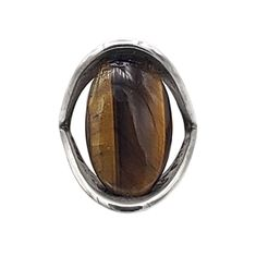 size 9 w// Ancient Wood Inlay 17mm wide 11//16 Sterling Silver Triangular Ring