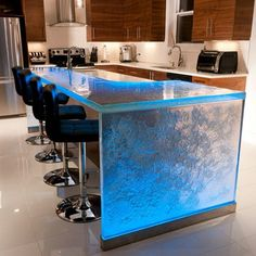 Enhance your kitchen beauty and modernization with a glass countertop