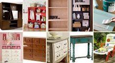 Ιδέες Μετατροπής Παλιών Επίπλων Shelving, Dresser, Bookcase, Furniture, Decoupage, Home Decor, Shelves, Powder Room, Decoration Home