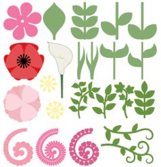 Flowers and Leaves free SVG bundle