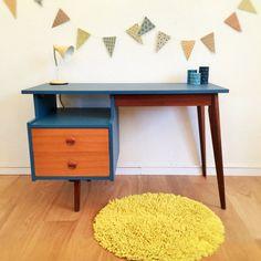 Vintage Desk mid century modern scandinavian by ChouetteFabrique