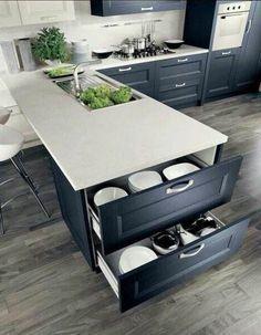 Kitchen Cabinet Remodel, Modern Kitchen Cabinets, Kitchen Cabinet Design, Kitchen Interior, Kitchen Modern, Coastal Interior, Eclectic Kitchen, Functional Kitchen, Oak Cabinets