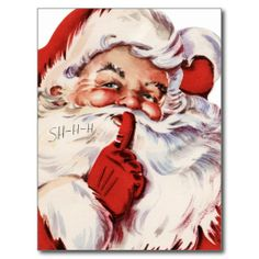Classic Santa Claus | classic santa claus card vintage old fashioned red
