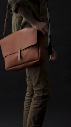 The Vintage Messenger from WP Standard. Prada Messenger Bag, Vintage Leather Messenger Bag, Leather Backpack For Men, Briefcase For Men, Leather Bags Handmade, Leather Satchel, Leather Men, Leather Handbags, Leather Wallet