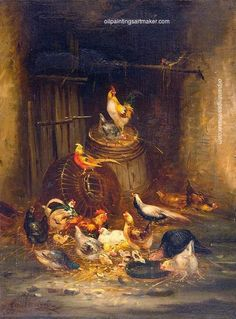 Claude Guilleminet Poultry, painting Authorized official website