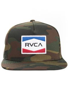 RVCA, RVCA Nations Snap-Back Hat - Camo - RVCA - MOOSE Limited