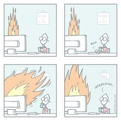 This is Fine - Developer comics Cartoons, Make It Yourself, Comics, Cartoon, Animated Cartoons, Comic Book, Comic Books, Comic Books, Comic