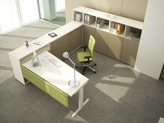 Individual workstation for open plan office - JOINT - ESTEL