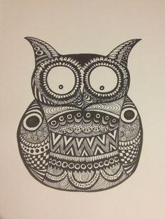 zentangles owl - Google Search