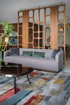 Bangalore-home-apartment-interior-design-2 Living Room Partition Design, Room Partition Designs, Apartment Interior Design, Modern Interior Design, Home Room Design, Living Room Designs, Divider Design, Interior Minimalista, Furniture Design