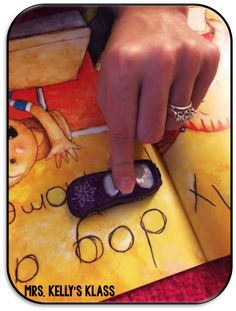 Kiddos LOVE using toy cars to track words while reading. Lots of other goodies to add to your reading station in this blog.