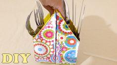Do Lixo Ao Luxo : Porta Talheres com Caixa de Leite - DIY Artesanato Rec...