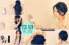 No line in the back, milkmaid braid hairstyles   hair tutorial video
