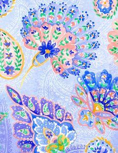 Ombre Paisley by Charis Harrison, via Behance