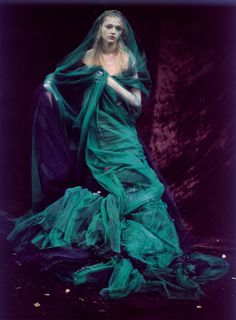Sasha Pivovarova by Paolo Roversi for Vogue India