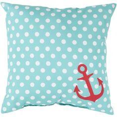 Too fun for outdoor or indoor use! #polkadotpillow #nauticalpillow