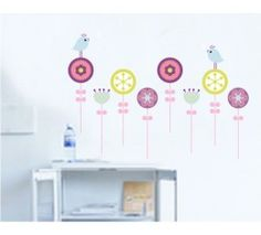 Blanche Lynn Living Room/ Bedroom/ Sofa String Course Skirting Lollipops Windmill DIY Wall Stickers Peel and Stick Removeable Decorative PVC Wall Decals ** Additional details at the pin image, click it : Home Decor Wall Pediments