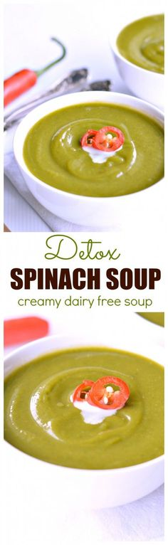 I will definitely make this to cleanse my body after Christmas! Freezable soup, low calorie and made in 30 minutes! This detox spinach soup is also dairy free so everyone will love it!