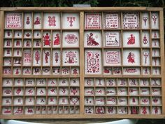 Crossstitchfairy. Great detail photos of this printer's tray on blog